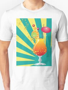 Orange cocktail with decorations T-Shirt