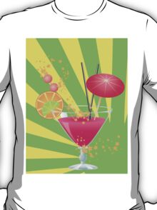 Pink cocktail with decorations T-Shirt