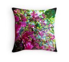 Tropical Suburbia Throw Pillow