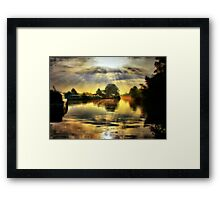 Before the River Narrows Framed Print