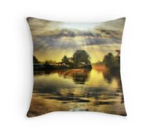 Before the River Narrows Throw Pillow