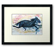 Horsey 7 Framed Print