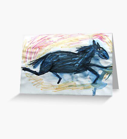Horsey 7 Greeting Card