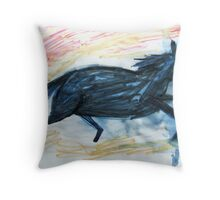 Horsey 7 Throw Pillow
