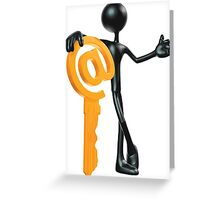 Man with a key - @! Greeting Card