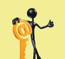Man with a key - @! by Vitalia