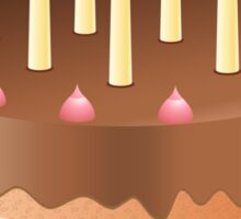 Chocolate cake with candles Sticker