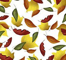 Falling Watercolor Leaves by megsneggs