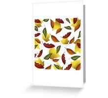 Falling Watercolor Leaves Greeting Card