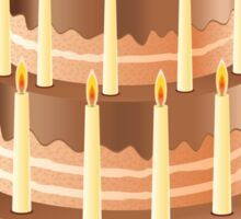 Chocolate cake with candles 2 Sticker