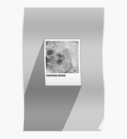 Pantone Moon Poster