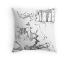 Locked in Throw Pillow