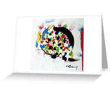 Series brush strokes No. 05/ 2014 Greeting Card