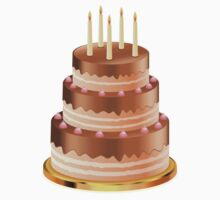 Chocolate cake with candles 3 Kids Clothes