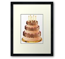 Chocolate cake with candles 3 Framed Print