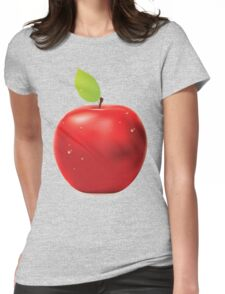 Fresh red apple Womens Fitted T-Shirt