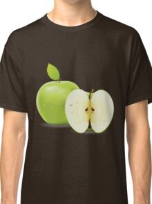 Green apple and half of apple  Classic T-Shirt