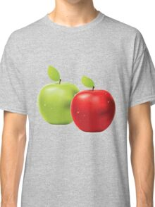 Green apple and red apple Classic T-Shirt