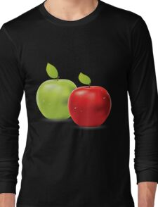 Green apple and red apple Long Sleeve T-Shirt