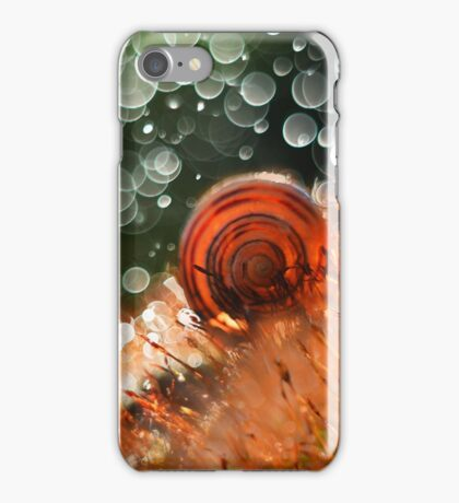 Morning impression with snail shell iPhone Case/Skin