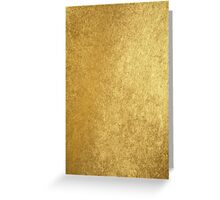 Elegant chic gold texture Greeting Card