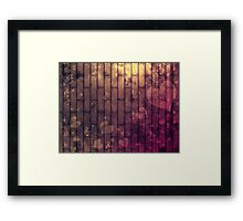 Abstract wood texture Framed Print