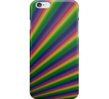 Perspective rainbow planks iPhone Case/Skin