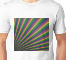 Perspective rainbow planks Unisex T-Shirt