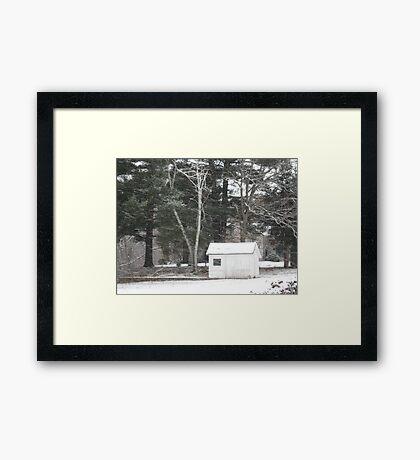 Winter Shed Framed Print