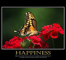 Happiness Inspirational Art by Christina Rollo