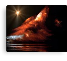 Avalanche on Mars Canvas Print