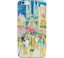 Barcelona, between Art Nouveau and lively streets (Ramblas) iPhone Case/Skin