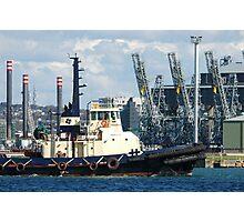 Newcastle Harbour - Wato Tug Boat Photographic Print