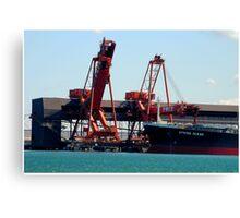 Newcastle Harbour - Spring Ocean Coal Ship Canvas Print