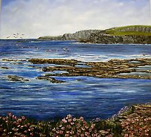 """Kilkee Cliffs - County Clare"" by Avril Brand"