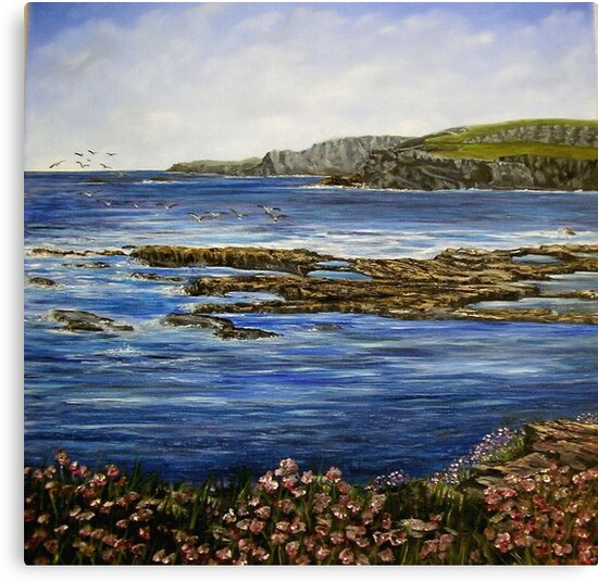 """""""Kilkee Cliffs - County Clare"""" by Avril Brand"""