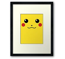 Pikachu Face Framed Print