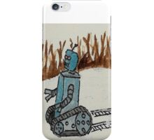 Robots don't mind cold weather iPhone Case/Skin