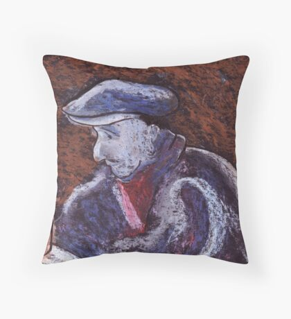 Man at the bar Throw Pillow