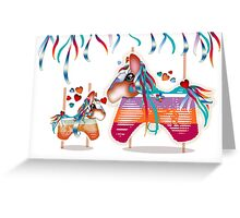 Magic Merry Go Round Ponies Greeting Card