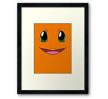 Charmander Face Framed Print