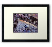 Road to the coal mine Framed Print