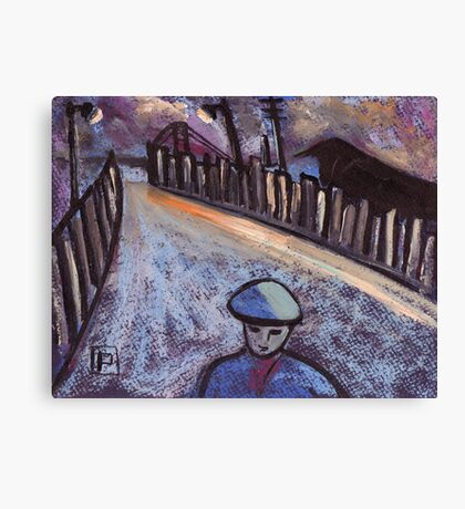 Road to the coal mine Canvas Print