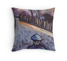 Road to the coal mine Throw Pillow
