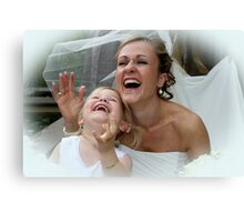 Mum Dad and My Big Day  Canvas Print
