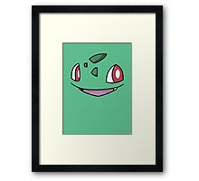 Bulbasaur Face Framed Print