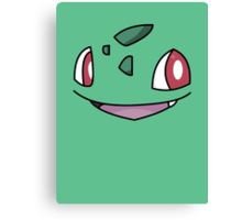 Bulbasaur Face Canvas Print