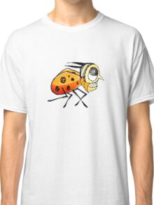 Funny Bug Running Hand Drawn Illustration Classic T-Shirt