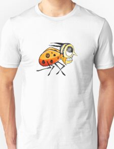 Funny Bug Running Hand Drawn Illustration T-Shirt