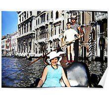 Promenade en gondole - Venise Poster